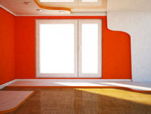 Interior design scene with a window, Stock Photo
