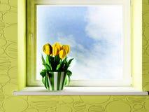 Interior design scene Stock Image
