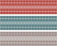Interior design. Set of tile borders. Decor elements.  Stock Photos