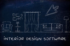 Interior design software Royalty Free Stock Image