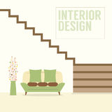 Interior Design Stairs With Sofa Royalty Free Stock Photos