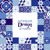 Interior design studio text with mosaic decoration Royalty Free Stock Photography