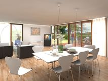 Interior Design, Table, Architecture, House stock photo
