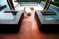 Interior design of thai resort Stock Photos