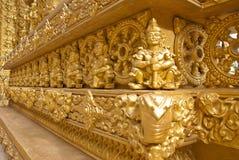 Interior design of thai temple Royalty Free Stock Photo