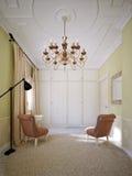 Interior design tradizionale classico della camera da letto Fotografie Stock Libere da Diritti