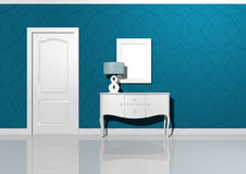 Interior design turquoise Stock Photos