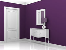 Interior design violet stock illustration