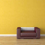 Interior design violet couch on royalty free stock image