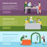 Interior Design Wedding Decoration Banners Set Stock Image