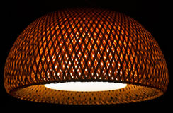 Interior design wicker pendant ceiling light shade Stock Photo