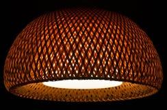 Interior design wicker pendant ceiling light shade stock photo