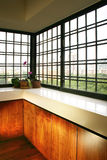 Interior design - windows. Sliding windows with display ledge Stock Photography
