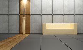 Interior design - Wood and stone Royalty Free Stock Photography