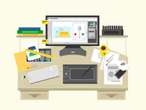 Interior design workspace Royalty Free Stock Image