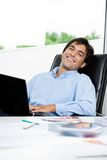 Interior Designer With Laptop Stock Photography