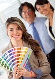 Interior designer ready to paint Royalty Free Stock Images