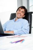 Interior Designer Using Laptop Royalty Free Stock Photo