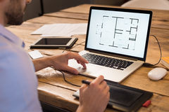 Interior designer at work royalty free stock photos