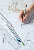 Hand drawing details of the interior Royalty Free Stock Photography