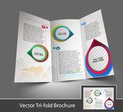 Interior Designers Tri-fold Brochure Royalty Free Stock Photography