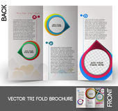 Interior Designers Tri-Fold Brochure Stock Image