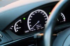 Interior (Designo) da S-classe usada S350 de Mercedes-Benz por muito tempo (W221 Imagem de Stock Royalty Free