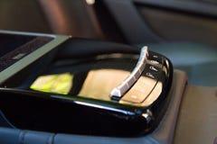 Interior (Designo) da S-classe usada S350 de Mercedes-Benz por muito tempo (W221 Fotografia de Stock