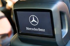Interior (Designo) da S-classe usada S350 de Mercedes-Benz por muito tempo (W221 Fotografia de Stock Royalty Free