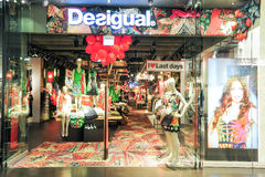 Interior of Desigual fashion clothes store Stock Photos