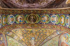 Basilica of San Vitale in Ravenna, Italy. Interior detail of Basilica of San Vitale in Ravenna, Italy. It one of the most important examples of early Christian Royalty Free Stock Image