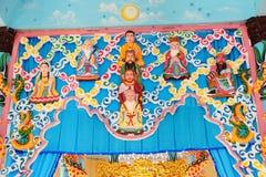 Interior detail,  Cao Dai Temple Stock Image