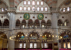 Interior detail from Kilic Ali Pasa Mosque, Tophane, Beyoglu Istanbul, Turkey. Royalty Free Stock Images