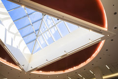 Interior detail. Detail of interior  modern building ceiling Stock Photo