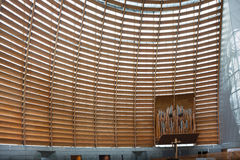 Interior Detail of Oakland Cathedral of Christ the Light Royalty Free Stock Photo