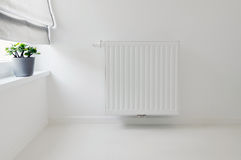 Interior detail with radiator Royalty Free Stock Photo
