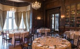 Interior Details of Casa Loma in Toronto Stock Photo