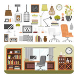 Interior details design vector. Stock Photos