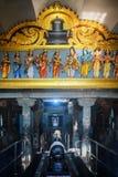Interior details of a Hindu Temple Kovil in Colombo, Sri Lanka. Royalty Free Stock Photo