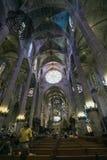 Interior details of La Seu cathedral Royalty Free Stock Image