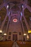 Interior details of La Seu cathedral. PALMA DE MALLORCA, BALEARIC ISLANDS, SPAIN - JULY 14, 2016: Interior details of La Seu cathedral on July 14, 2016 in Palma Stock Image