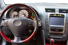 Interior details of a luxury car Stock Image
