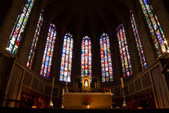 Interior details of Notre Dame cathedral in Grand Duchy of Luxem Royalty Free Stock Photography