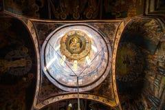Interior details of the old church at Sinaia Monastery, Romania Stock Photo