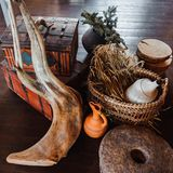 Interior details in rustic style Royalty Free Stock Image