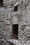 Interior details of tower Yedikule Fortress Royalty Free Stock Photography