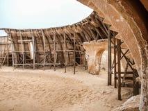 Interior, detrás de las escenas, vista del sistema original de la película usado Imagenes de archivo