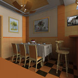 Interior dining area Royalty Free Stock Images