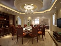Interior dining room Royalty Free Stock Photos