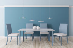 Interior of dining room 3d Stock Photo